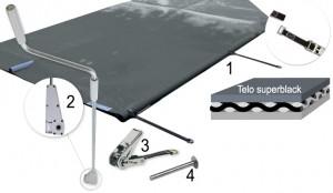 Materiali inclusi nel kit della copertura SAFETY TOP